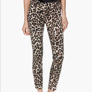 PAIGE  Verdugo Ankle Raw Hem - Sahara Leopard